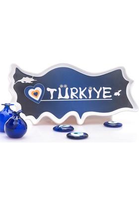Seramik Türkiye Çerezlik Mavi Nazar Boncuklu UP00016MV