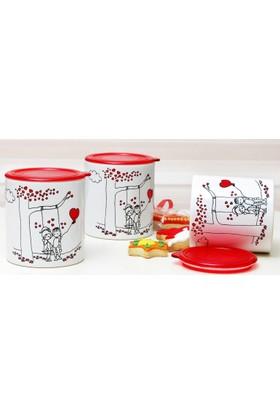 Şeker Peker Seramik 3'Lü Saklama Kabı - Kavanoz UP00074
