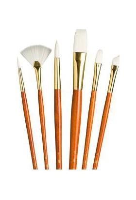 Princeton Fırça Seti 6'Lı Beyaz Sentetik Kıl N:9156