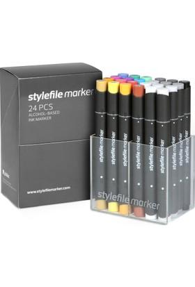 Stylefile Marker 24Pcs Set Main A