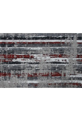 Esse Halı Porto 2 Gri Kırmızı XW 80x150 cm