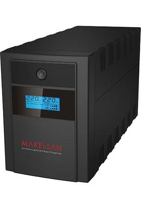 Makelsan Lıon Plus 1000 Va Line Interactive 5-15 Dk. Lcd Ekran 2X7Ah Yuasa Akülü (Usb)