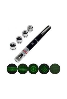 Cix 100mw 5 Başlıklı Yeşil Lazer Pointer 70127