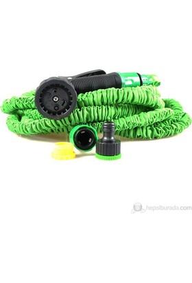 Cix Magic Hose Uzayan Sihirli Hortum (Yeşil) 15 Metre (Sulama Tabancası Dahil)