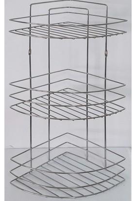 GU Bİ Metal 3 Katlı Banyo Köşelik ART-0035