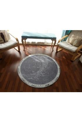 Stella Yıldız Haritası Yuvarlak Halı Çapı 120cm