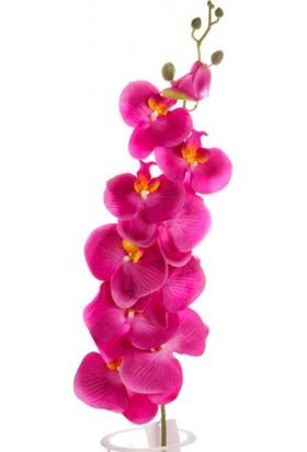 Yedifil Büyük Orkide Lila Yapay Çiçek