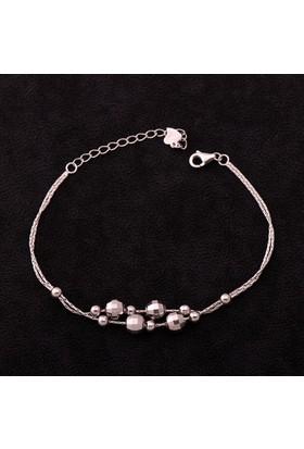 Sümer Telkari Trend Toplu Rodyumlu Gümüş Bileklik 1247