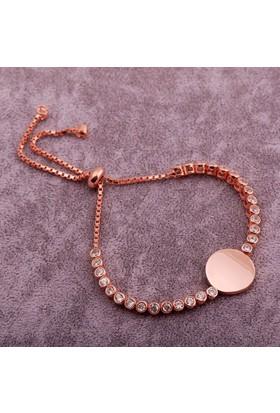 Sümer Telkari Trend Su Yolu Ros Gümüş Bileklik 1393