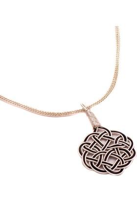 Sümer Telkari Aşk Düğümü Kazaziye El Sarması Gümüş Kolye 1448