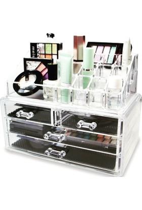 Makeup Organizer 4 Çekmeceli üzeri Çok Fonksiyonlu Organizer