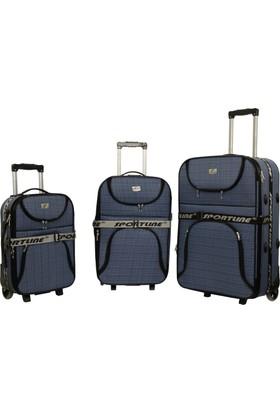 Sportline Havlu Mavi Bavul Seti