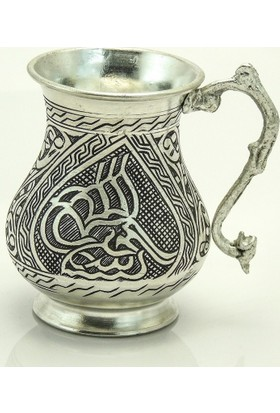 Gümüş Tekin Tuğralı Bardak