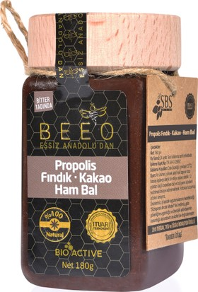 BEEO Fındık, Kakao, Propolis Ham Bal Karışımı 180 gr