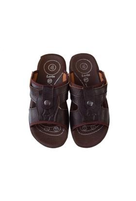 Lorin Erkek Sandalet Terlik Kahverengi Ortopedik