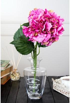 Madame Coco Dekoratif Yapay Çiçek Pembe Ortanca 104 Cm