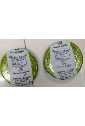 Öznur 2,5 Mm Nya Kablo Tek Damar Sarıyeşil