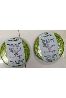 Öznur 2,5 Mm Nya Kablo Tek Damar Sarıyeşil 25 Metre