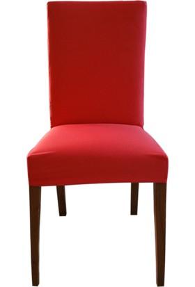 Akçağ Düz Sandalye Kılıfı Pembe