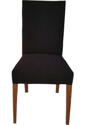 Akçağ Düz Sandalye Kılıfı Siyah