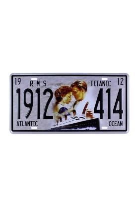 T-Bek Vintage Metal Plaka Titanic 15x30