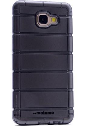 Gpack Samsung Galaxy A7 2016 Kılıf Çizgili Motomo Sert Silikon Kapak Siyah