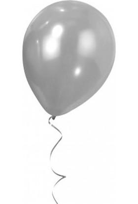 Bebekparti Metalik Gümüş Balon 100 Adet