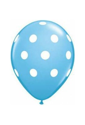 Bebekparti Mavi Puantiyeli Balon 10 Adet