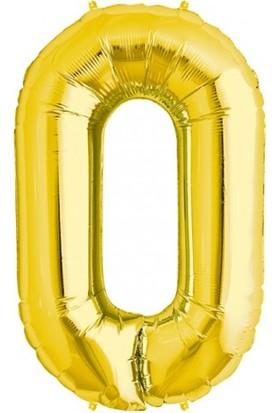 Bebekparti 0 Rakam Altın Folyo Balon 100 Cm
