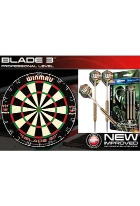 Winmau Blade 3 Dart Board Profesyonel Dart Tahtası (3 Adet Winmau İleri Seviye Commando Ok Seti)