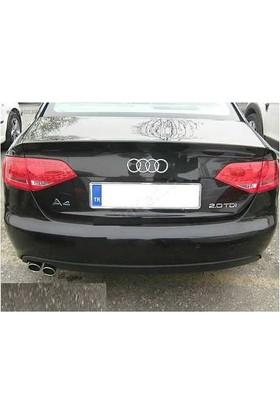 Krom Audi A4 B8 2009-2012 Egsoz Çift Ucu 2.0T Orijinal Uclu