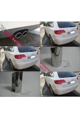 Krom Audi A3 Egsoz Çiftli Ucu Krom Orjinal Uclu 2 Adet