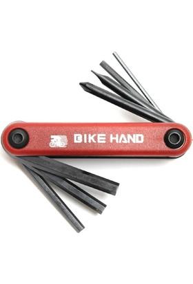 Bike Hand Yc-267 Alyan Çakı 7 Fonksiyonlu Kırmızı