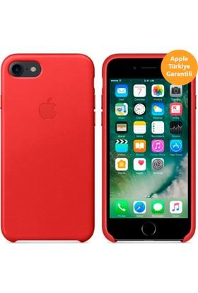 Apple iPhone 8 - iPhone 7 Deri Kılıf - Kırmızı - MMY62ZM/A (Apple Türkiye Garantili)