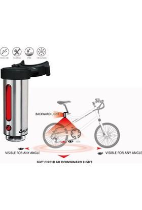 Guee Arka Işık Inox Mini-R Usb Şarjlı Gümüş
