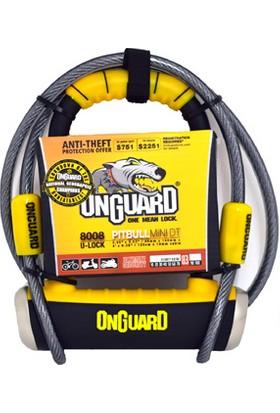 Onguard U-Kilit 8008 Pitbull Mini Dt Kablolu Siyah