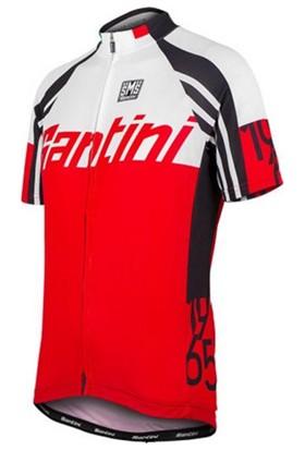 Santini Forma Kısa Kol Full Zipp Kırmızı