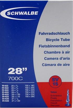 Schwalbe İç Lastik 700X18-28 İğne Sibop 40 mm Siyah