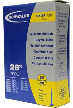Schwalbe İç Lastik 700X18-25 80 mm İğne Sibop Siyah