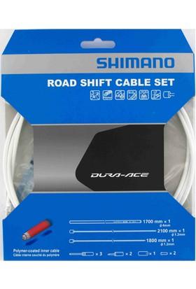 Shimano Dura Ace 9000 Vites Kablo Seti Beyaz