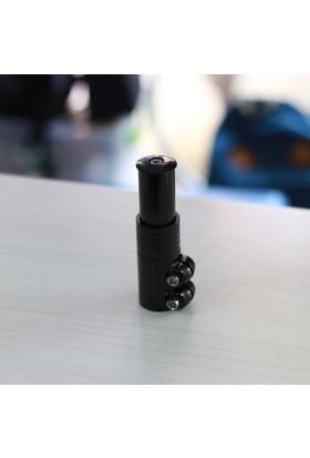 Tranzx Gidon Boğazı Yükseltme Adaptörü 75 mm Siyah