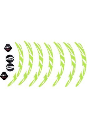 Zipp 202 Jant Sticker Seti Ön Arka Yeşil
