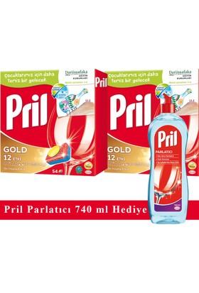 Pril Gold Bulaşık Makinası 108 (54+54) Tablet + Pril Parlatıcı 740 ml