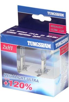 Tungsram Set Ampul H1 12V 60/55W %30 Beyaz + %120 Fazla Işık
