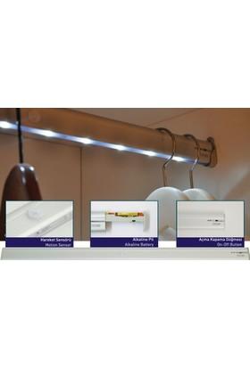 Gürçay Işıklı Askı Borusu Kesilebilir Pilli Sensörlü 51-55Cm