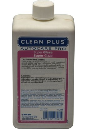 Cleanplus Oto Süper Hare Giderici Sarı Cila 1L Pro