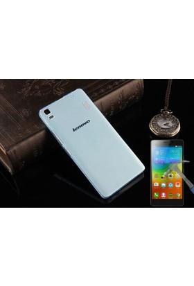Teleplus Lenovo K3 Note Tam Korumalı Silikon Kılıf + Cam Ekran Koruyucu