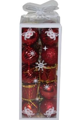 Özel Pakette Kırmızı Karışık Ağaç süs 3 cm
