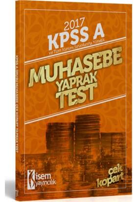 İsem Yayıncılık Kpss 2017 A Grubu Muhasebe Çek Kopart Yaprak Test
