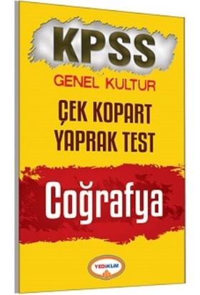 Yediiklim Yayınları Kpss 2017 Coğrafya Çek Kopart Yaprak Test